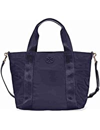 Small Quinn Nylon Zip Top Tote (Navy)