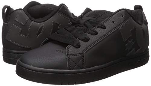 DC Men's Court Graffik Skate Shoe, Black/Shadow Print, 7 D M US