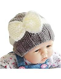 b3d04fa9bf2 Kids Winter Hats Fleece Lined Knit Toddler Girls Beanie Baby Confetti Warm  Pom Pom Cap