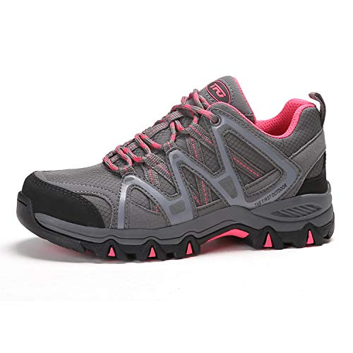 TFO Women's Lightweight Breathable Non-Slip Hiking Running Shoe Athletic Outdoor Walking Trekking Sneaker Gray 6.5