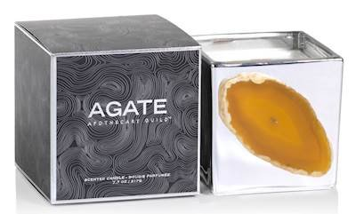 Zodax OROBLANCO Silver Agate 8 oz Scented Jar Candle