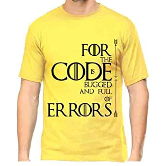 f197701f8 WhatayWear Pure Cotton College 'GOT TRIBUTE' Coding Funny Quote Programming  Half Sleeve T-shirt for Men |Cool Cheap Custom Printed T Shirts: Amazon.in:  ...