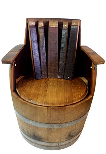 - Wine Barrel Chair with Arm and Back Rest 35