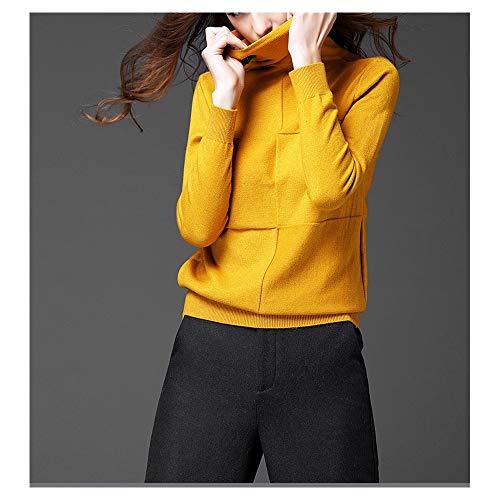 Yellow A Go Collo Maniche Autunno Inverno Bottom Mucchio Collare Shopping E Trasversale Maglione Nuovo Lunghe Alto Easy D9HI2YeEW