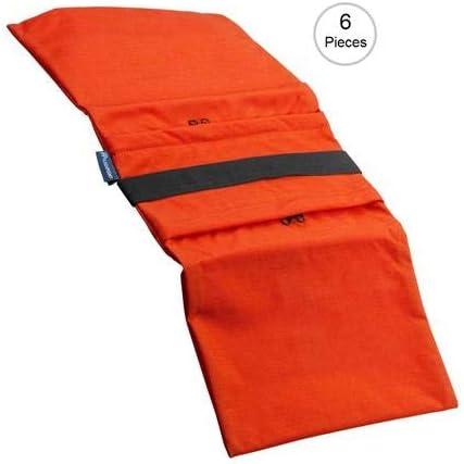 35 lb Capacity, Orange 6 Pack Water-Resistant Cordura Nylon - Flashpoint Empty Saddle Sandbag