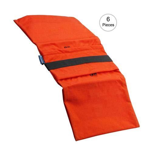 Flashpoint Empty Saddle Sandbag, Water-Resistant Cordura Nylon - (35 lb Capacity, Orange) (6 Pack)