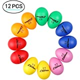 Plastic Egg Shakers, Ehome 12 Pcs Percussion Musical Egg Maracas Easter Egg Kids Toys with Assorted Colors.