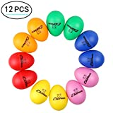 Plastic Egg Shakers, Ehome 12 Pcs Percussion Musical Egg Maracas Easter Egg Kids Toys with Assorted Colors.: more info