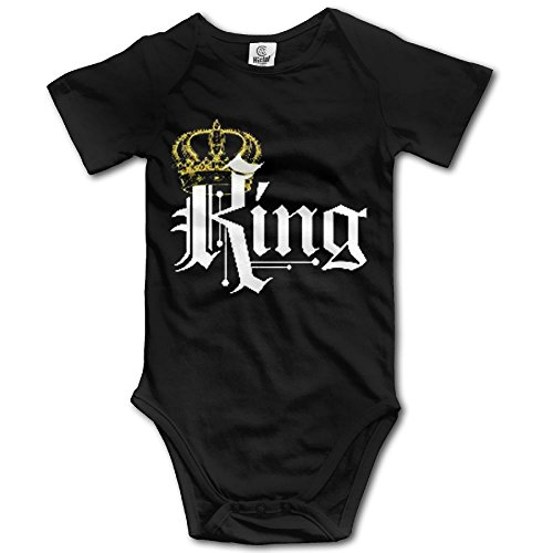 LiamP Baby Onesie Girl Boy Outfit Baby Bodysuit Jumpsuit Creeper Short Sleeve King With -