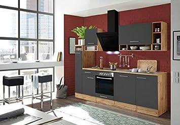 respekta Küchenzeile Küche Küchenblock Einbauküche Komplettküche 250 ...