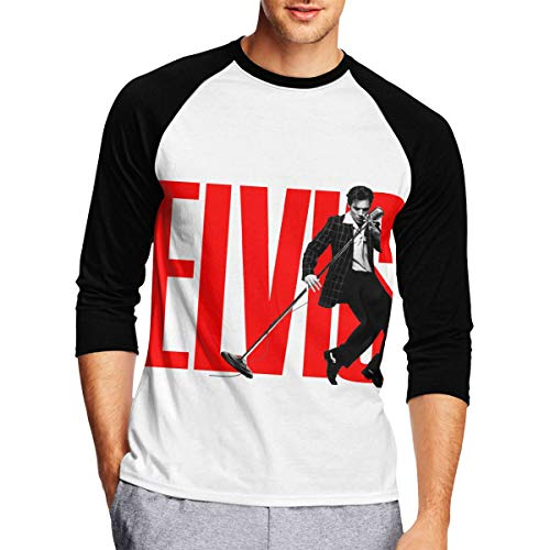 (Mens Long Sleeve T Shirts, Elvis Presley Long Sleeve Tee Classic Casual Jersey Black)