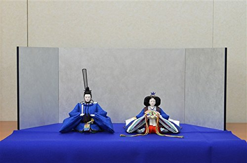 ひな人形 きよら スカイブルー コンパクト中型 シンプルタイプ 親王毛せん飾りkb36bl 132458330   B01N9OCCSE