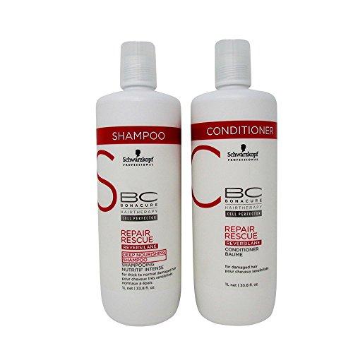 Rescue Deep Conditioner - Schwarzkopf Bonacure Repair Rescue Shampoo and Conditioner Liter Duo Set (33....