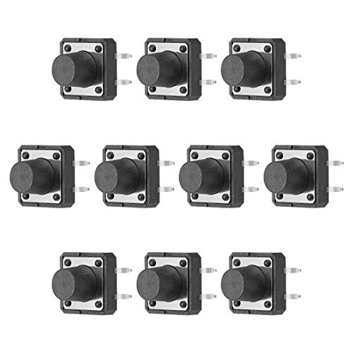 uxcell 12x12x9mm Panel Mini/Micro/Small PCB Momentary Tactile Tact Push Button Switch Dip 10PCS