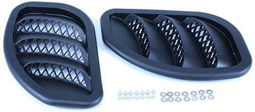 Daystar KJ71052BK Black Side Hood Vent Kit for Jeep Grand Cherokee/MJ - Pair (Hood Louver For Xj compare prices)