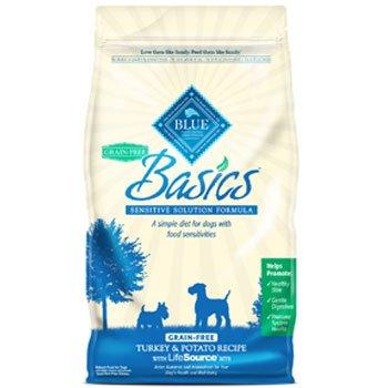 Blue Buffalo Basics Grain Free Turkey and Potato Recipe Adult Dry Dog Food, 4-Pound, My Pet Supplies
