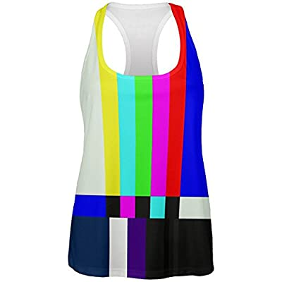 Old Glory Halloween SMPTE Color Bars Late Night TV Costume All Over Womens Work Out Tank Top
