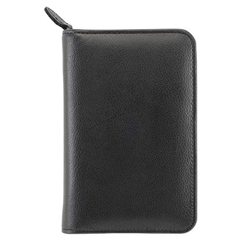 Day-Timer Armorhide Leather Zippered 0.5 inch Planner Cover Jotter Size - by Day-Timer