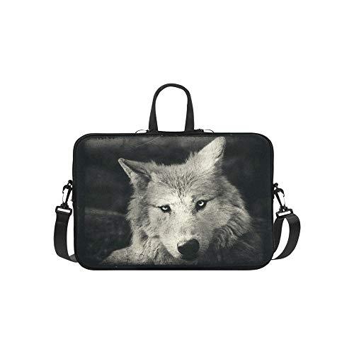 Awesome Halloween Wallpaper with Mystical Wolf Pattern Briefcase Laptop Bag Messenger Shoulder Work Bag Crossbody Handbag for Business Travelling -