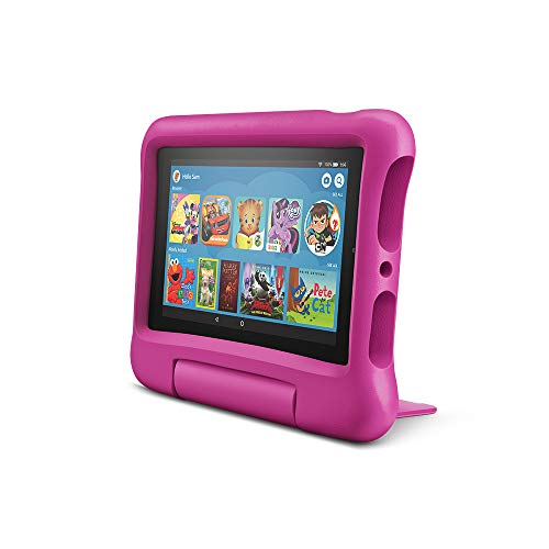 Fire 7 Kids Edition Tablet, 7' Display, 16 GB, Pink Kid-Proof Case