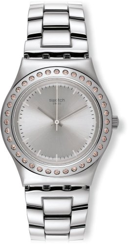 Swatch Irony Lady - Swatch Irony Pure Powder Silver Dial Stainless Steel Ladies Watch YLS172G