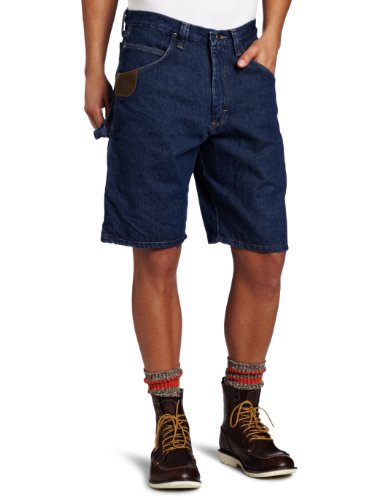 RIGGS WORKWEAR by Wrangler Men's Workhorse Short, Antique Indigo, 32 (Wrangler Riggs Shorts)