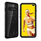 Waterproof Samsung Galaxy S10+ Plus Case, Underwater Clear Full Body Protective with Built-in Screen Protector Heavy Duty Rugged Case Shockproof Dustproof Waterproof Case for Galaxy S10+ Plus 6.4 inch