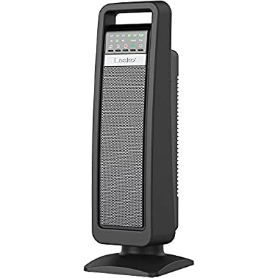 Lasko Smart Tech Oscillating Ceramic Tower Heater Fan with Multi Function Remote Control and FREE Air Freshener, 0.67 Ounce