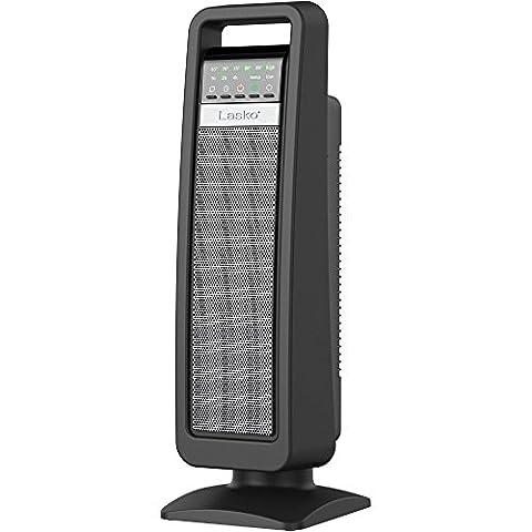 Lasko Energy Efficient Portable Ceramic Tower Heater with Save Smart Technology - Duracraft Fan