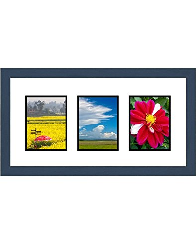 (Frames by Mail Triple Square Opening Collage Frame for 4