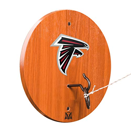 Victory Tailgate Atlanta Falcons Hook & Ring Toss - All Wood Target with Rubbed Bronze Hook and Ring - More Teams Available ()