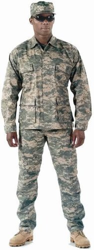 Camouflage Military BDU Pants, Army Cargo Fatigues (ACU Digital Camouflage, Size Medium)