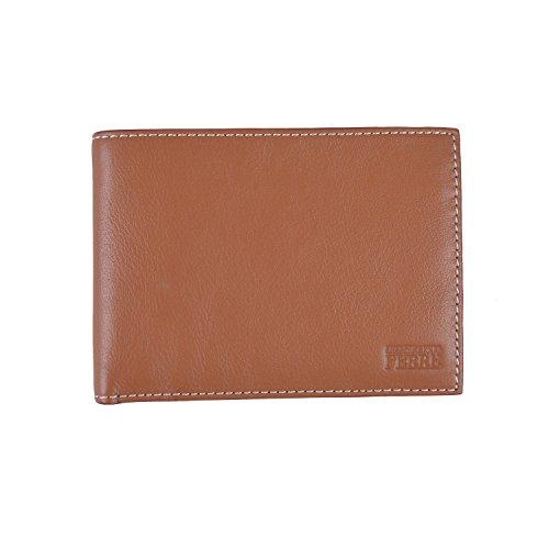 Ferre Leather (Gianfranco Ferre Men's Tan 100% Leather Bifold Wallet)