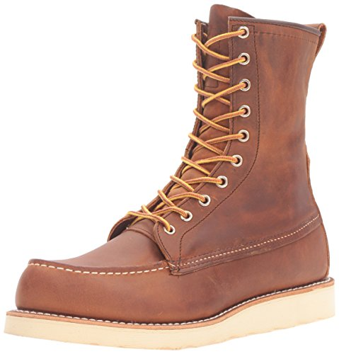 Red Wing Heritage Men's 8 Inch Moc Work Boot, Copper Rough and Tough, 9.5 D US