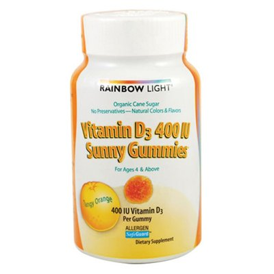 Rainbow Light Vitamin D Sunny Gummies Chew, 60 Count