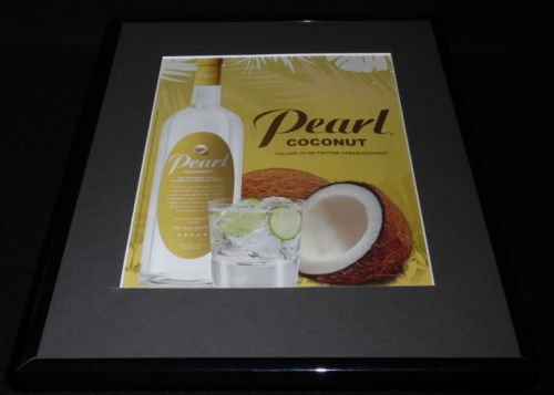 - 2011 Pearl Coconut White Vodka Framed 11x14 ORIGINAL Advertisement