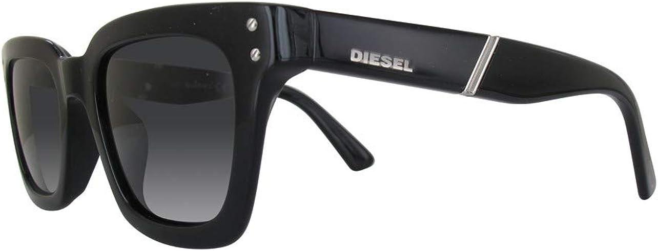 Nero Diesel DL0240 01A 45 Montature 45.0 Unisex-Adulto Nero LucidoFumo