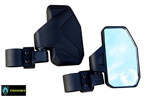 Chupacabra Offroad Rear View/Side Mirror for UTV with SPOT Mirror - Right & Left Pair for 1.6