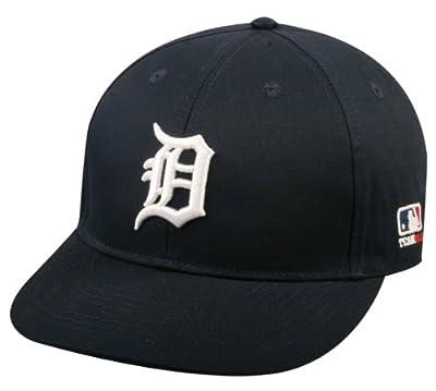 """2013 Adult FLAT BRIM Detroit Tigers Home Navy Wht """"D"""" Hat Cap MLB Adjustable"""