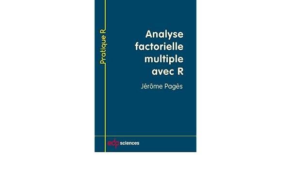 analyse factorielle multiple avec r
