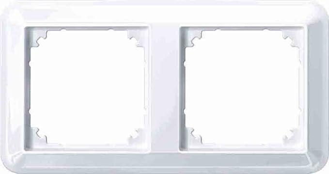 Merten 388225 Glänz Atelier M Rahmen 2fach Aktivweiß Glänzend Baumarkt