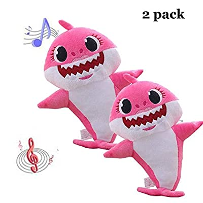CHOOSER Baby Singing Shark Plush Toy Music Sound Official Baby Shark Plush Doll,Baby Cartoon Shark Stuffed Plush Toys Singing English Song for Kids Gift Children Girl