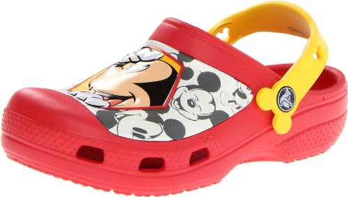 crocs 14802 Mickey Peekaboo Clog (Toddler/Little Kid),Red/Yellow,3 M US Little Kid by Crocs