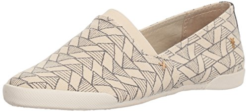 Frye Dames Melanie Canvas Siip Op Sneaker Off White / Multi