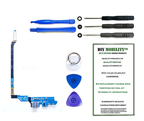 Samsung Galaxy S4 M919- (T-MOBILE) Charge Port Flex Cable Connector Replacement Kit with DM Tools and Instructions Included - DIYMOBILITY (Cable Flex Flip)