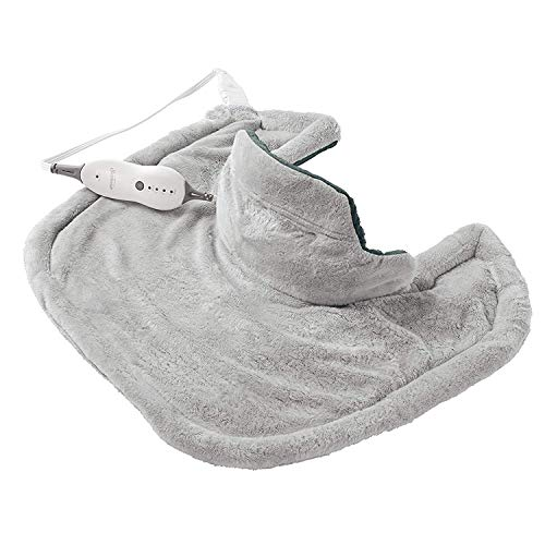 Sunbeam Heating Pad for Neck & Shoulder Pain Relief | Standard Size Renue, 4 Heat Settings with Auto-Off | Grey, 22-Inch x 19-Inch