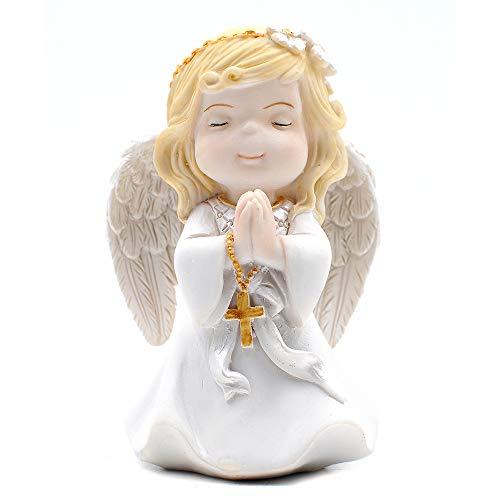 (Praying Girl Angel with Rosary Figurine Keepsake My First Communion )