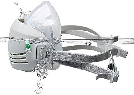 Respirador de media cara ONEWDJ, protección ocular con filtro, protección respiratoria, máscaras industriales de protección contra el polvo, máscaras de gas (con 5 filtros)