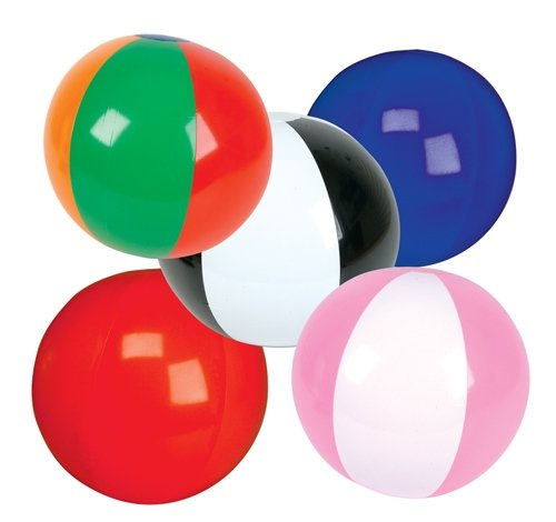 100 PC 6'' BEACH BALL ASSORTMENT, Case of 2 by DollarItemDirect