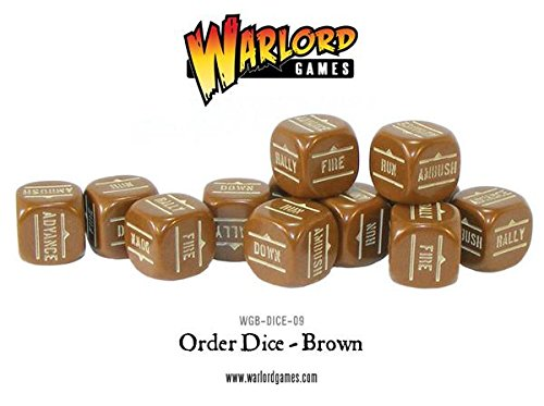 - Brown Pack Of 12 Bolt Action Orders Dice